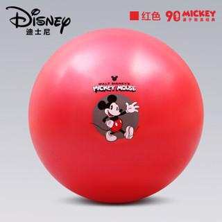 迪士尼(disney)90周年限定款瑜伽球 65cm加厚防滑健身球男女通用孕妇助产弹力球 赠全套充气装备 红色