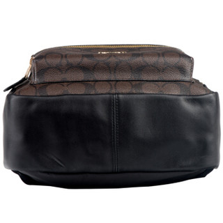 COACH 蔻驰 奢侈品 女士深咖啡色PVC双肩背包 F32200 IMAA8