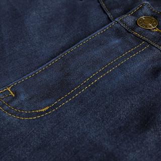 太子龙 牛仔裤男  直筒修身商务百搭休闲舒适柔软牛仔长裤 TM020 T82441 蓝色 34