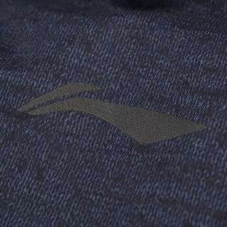 LI-NING 李宁 羽毛球系列 瑜伽户外运动健身时尚保暖白鸭绒短款羽绒服外套 AYMN087-3 XL码 黑色