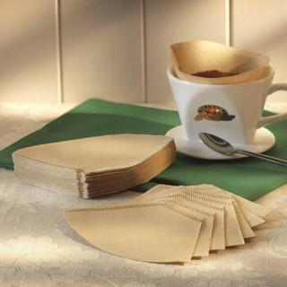 焙印 咖啡滤纸 原色咖啡过滤纸 100片 木质纤维滤纸美式咖啡机过滤纸 101扇形咖啡滤纸 2803 扇形 1-2人份