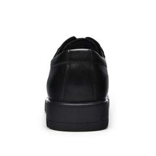 JINHOU 金猴 男士商务正装英伦系带时尚耐磨皮鞋 Q20047A 黑色 41码