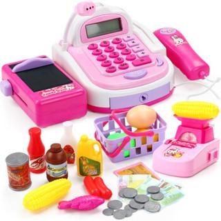奥智嘉 儿童玩具 过家家收银机套装早教益智仿真玩具超市收银台 男孩女孩玩具礼物