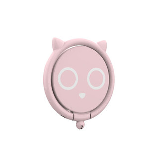 KEKLLE 创意手机指环扣支架懒人便携轻薄烤漆款  铃铛猫指环扣  粉色