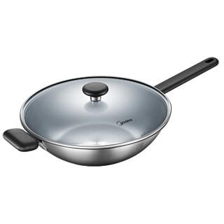 美的(Midea)304不锈钢炒锅铁锅家用电磁炉燃气通用CG32D02