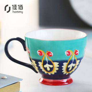 佳佰 Green系列 B2261 陶瓷马克杯 400ml 彩绘