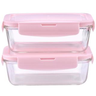 比得兔(Peter Rabbit)耐热玻璃保鲜盒 微波炉便当饭盒两件套 赠保温包  (840+840ml) PR-T1045