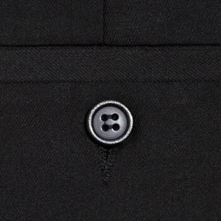 南极人(Nanjiren)男士西裤职业商务正装休闲免烫西服裤子 黑色常规款 33码 xk001