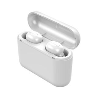 诺必行 Q32无线5.0双耳超小迷你隐形TWS蓝牙耳机耳塞式入耳式运动跑步 小米苹果安卓手机通用  白色