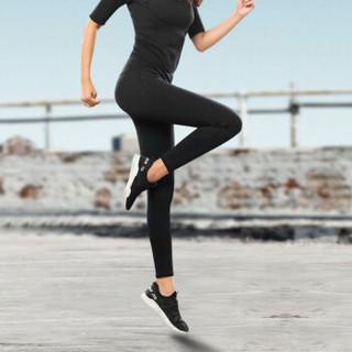 范迪慕 瑜伽裤女修腿紧身健身运动速干高弹运动裤高腰显瘦长裤 黑色-瑜伽长裤-L