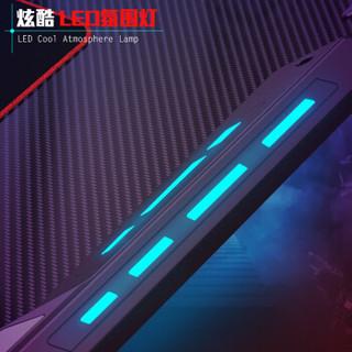 赛途PSEAT 电竞桌 电脑桌椅 台式家用简约办公桌写字书桌 1米1竞技游戏LED灯碳纤维桌子
