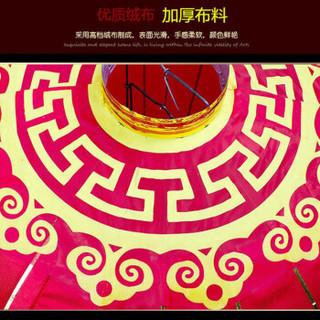 蒂利仕 婚庆节庆 大红灯笼春节过年新年元旦装饰品金边绸布结婚布景喜庆铁口灯笼 直径120cm
