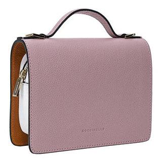 COCCINELLE 可奇奈尔 牛皮荔枝纹女士小巧手提单肩包 E5 BV3 55 D8 07 314暗粉色