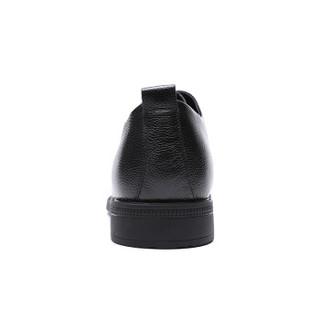 RED DRAGONFLY 红蜻蜓 男士商务正装系带简约舒适皮鞋 WTA87731/32 黑色 41
