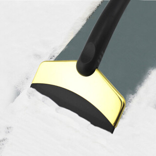 四万公里 汽车除雪铲  冬季冰箱结冰刮板车用迷你不锈钢除雪除霜刮水工具 玫瑰金 SWY8001