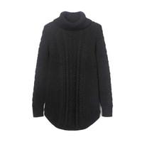 384916 女装 孕妇装棉质高领毛衣女士保暖宽松针织衫 384916