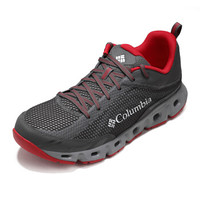 Columbia 哥伦比亚 溯溪鞋 户外男款轻盈缓震涉水鞋 DM2073 023 黑红色(男) 42