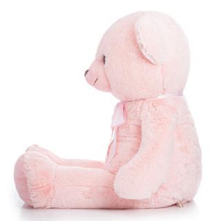 柏文熊 良伴泰迪熊 毛绒玩具玩偶娃娃公仔儿童女朋友生日礼物120cm粉色
