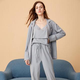 嫚熙(EMXEE) 月子服吸汗三件套孕妇哺乳睡衣 MX-YZF9007 雅致灰〔三件套〕M