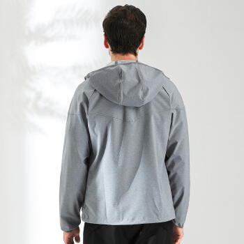 Columbia 哥伦比亚 软壳衣 户外男款防泼水软壳夹克 防风软壳衣外套 WE1207021 灰色  M
