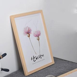 晨色 实木相框挂墙 摆台装饰画框 营业执照相框 照片墙 简约客厅餐厅装饰画框 A4尺寸 CS2025