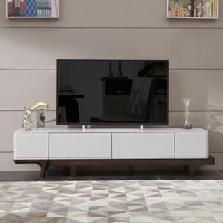 芝华仕现代简约储物钢化玻璃烤漆实木电视柜 PT002