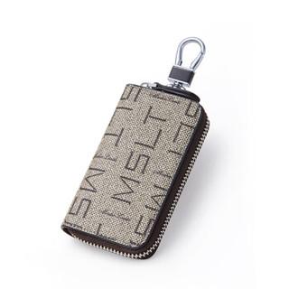 MashaLanti 马莎兰缇 钥匙包男士腰挂包时尚韩版多功能大容量车锁匙包 Y011灰色