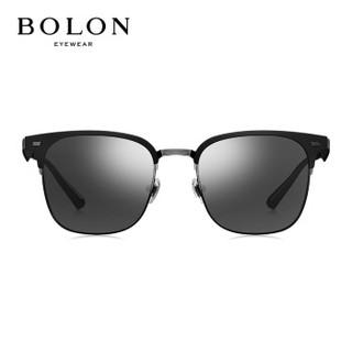 暴龙BOLON太阳镜男款19年新款偏光太阳眼镜D形框墨镜BL6075D11