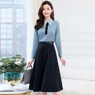 liqiao 丽乔  春季新款连衣裙女中长款百搭个性舒适A字裙舒适时尚中长款 cchnzMLJL1918 白色 XL