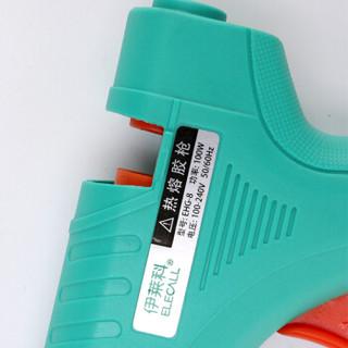 伊莱科(ELECALL)EHG-8-100 热熔胶枪手工电胶枪玻璃胶枪附20根胶棒100W