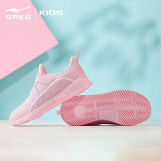鸿星尔克(ERKE)女童鞋儿童运动鞋大童魔术贴透气跑鞋休闲鞋 64119120070 粉红 34码
