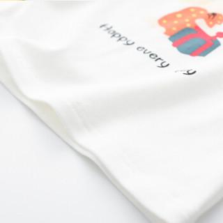 cicie自营童装女童T恤撞色印花套头衫女孩儿童上衣C91058 黄色 110/52A