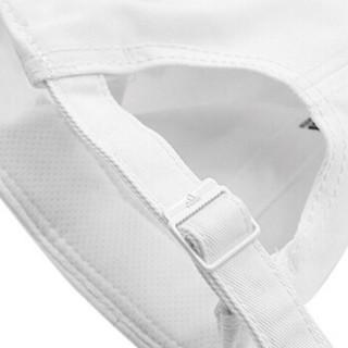 adidas 阿迪达斯 运动帽 男女 6P CAP COTTON 舒适休闲旅游鸭舌帽遮阳帽棒球帽休闲帽 S98150 OSFW 白色