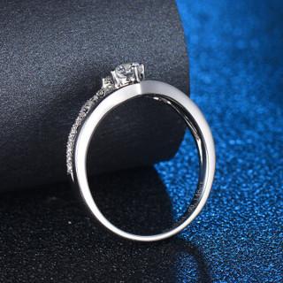 蓝色多瑙河  18K金女款钻戒群镶钻石戒指公主系列定制款 真爱 HD051N