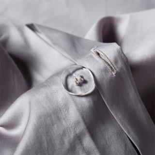 维科家纺 被套纯棉家纺 长绒棉全棉奢华纯色高支高密双人被套 被罩单件 200*230cm 纯色-浅灰