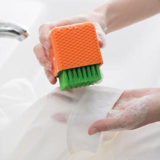阿依妈妈 硅胶洗衣刷软毛清洁刷洗鞋刷子板刷清洁洗衣服内衣刷两用刷