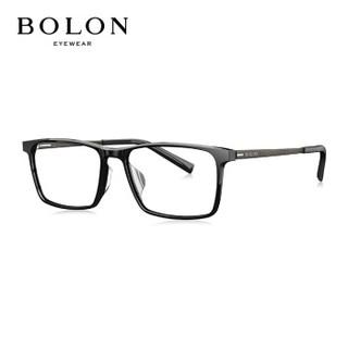 暴龙BOLON近视眼镜框男款商务方框眼镜架近视光学架可配依视路镜片BJ3036+暴龙1.67