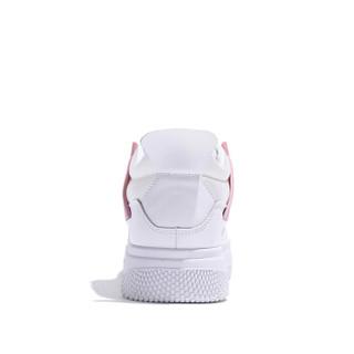 森马 Senma 时尚潮流韩版百搭学生运动舒适系带休闲小白鞋女 129114201 白粉色 35码