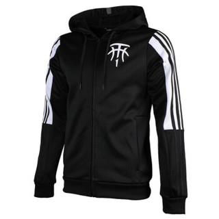 adidas 阿迪达斯 男子 篮球系列 TMAC HOODIE 运动 夹克 DP4941 黑色 L码