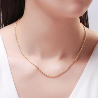 CUIHUA ZHUBAO 萃华 PAAHO080 黄金项链足金999素链单排女链 10.2-10.4g 42cm