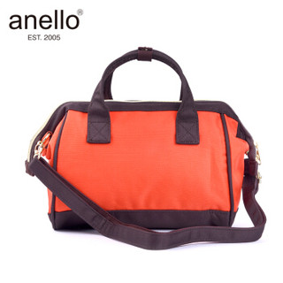 anello 阿耐洛 潮流多用包男女手提包中号单肩斜挎包H0851 红黑拼接