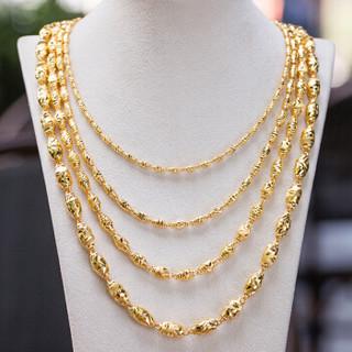 鑫万福 S9112 黄金项链橄榄珠足金圆珠圆筒13.90-13.99g 52cm