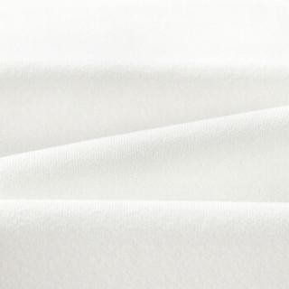 HLA海澜之家短袖T恤男2019夏季新品净色简约圆领绣标款短T男款HNTBJ2R141A米白(E1)175/92A(50)