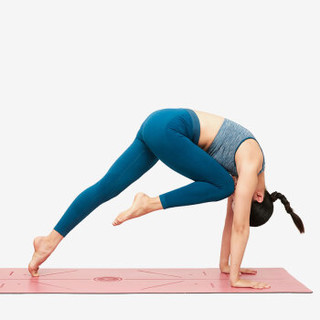 Keep 体位线瑜伽垫 天然橡胶防滑稳固健身垫 雾霾蓝
