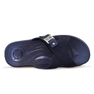 WARRIOR 回力 男士家居室内户外洗澡沙滩凉拖鞋 3265 深蓝 42(偏小一码)