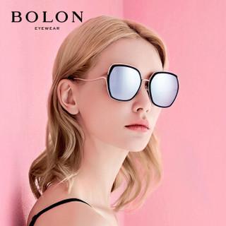 暴龙BOLON太阳镜新款女款时尚眼镜多边形框墨镜BL6078D11