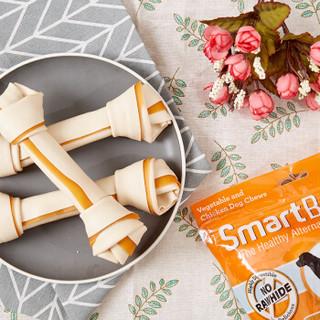 SmartBones 狗狗磨牙棒狗咬胶消化性狗零食成犬幼犬洁齿骨洁齿棒 地瓜味 大号-3支装