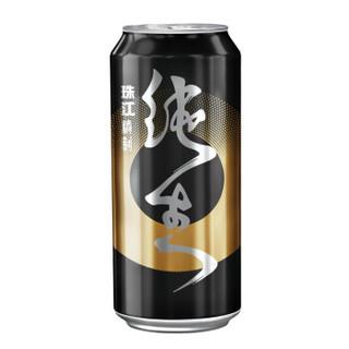 珠江啤酒 9度 珠江纯生黑金摇滚罐啤酒 500ml*18听