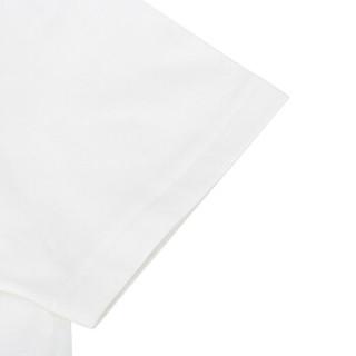 FENDI 芬迪 男士白色FF图案棉质圆领短袖T恤 FAF532 A54P F0UG8 M码