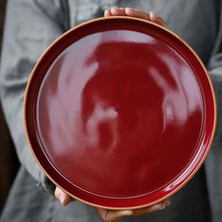 苏氏陶瓷 SUSHI CERAMICS 茶具套装高端霁红款陶瓷三才盖碗茶杯托盘整套功夫茶具敬茶杯礼品装